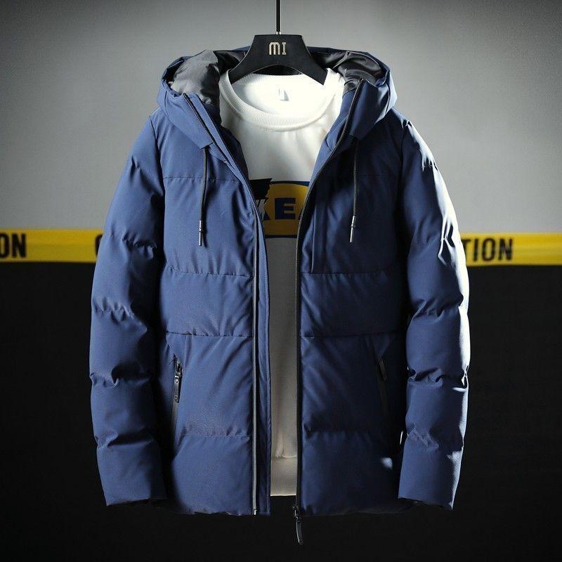 Varsanol grueso Parka hombres capa de la chaqueta de la nueva marca de algodón con capucha hombres Parkas sólido con capucha del bolsillo de -20 grados Parka Hombres 201118