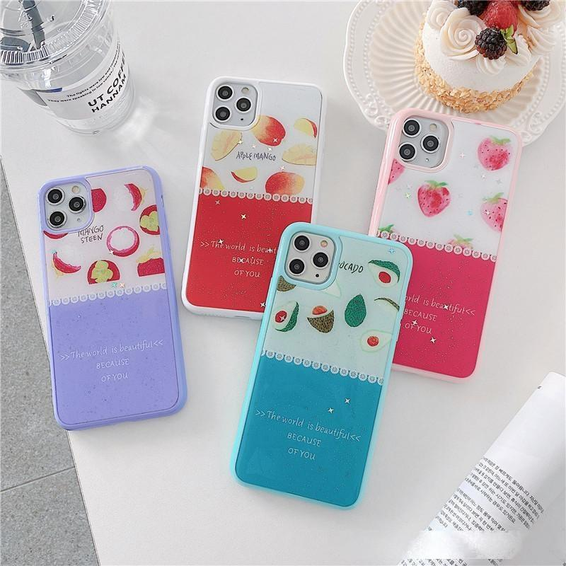 Nette Sommerfrucht-Wassermelone-Telefon-Case-Abdeckungsschale für iPhone SE 2020 8 7 6 6S plus X XS MAX 5 5S SE XR 10 CASE Wholesale Factory Direct