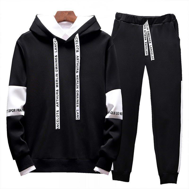 Moda Koşu erkek Tasarımcı Spor Takım Elbise erkek Hoodie + Pantolon Rahat Yüksek Kaliteli Ceket 2020 Iki Parçalı Suit M-4XL