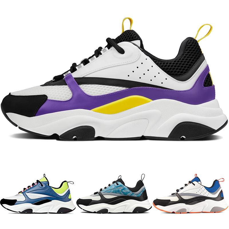 High Quality B22 Mens Canvas Calfskin Trainers Running Shoes Blue Black Red Pink Violet White Women Sneakers NO BOX! 3SN231YRK US12.5 47