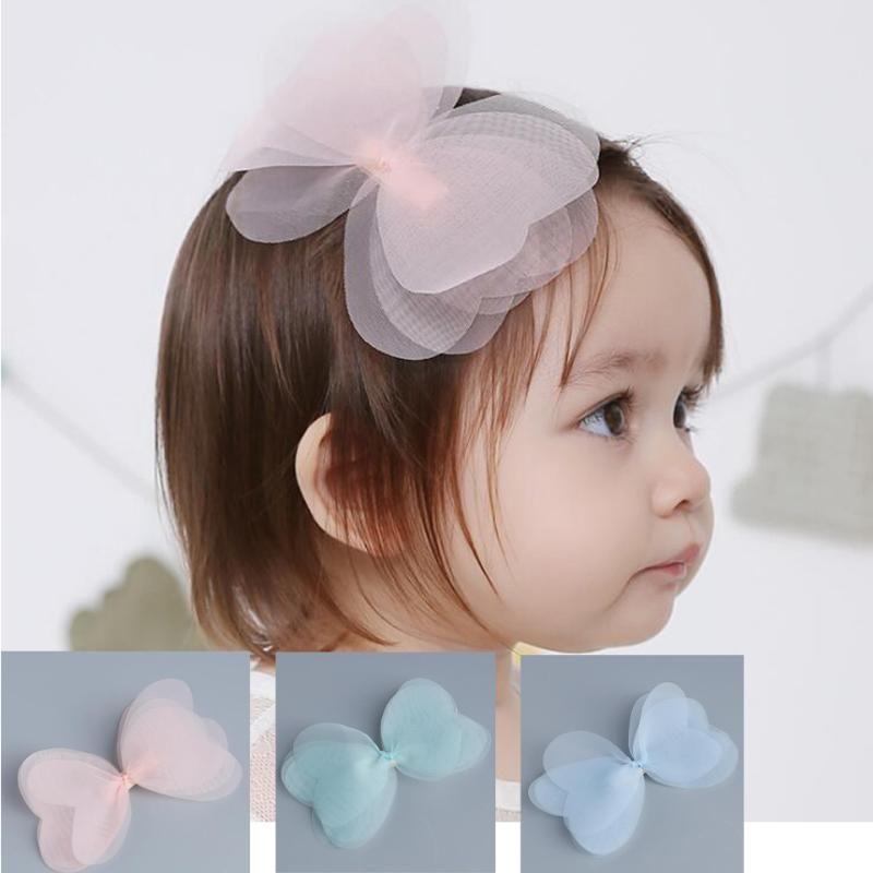 Аксессуары для волос маленькие девочки милые многослойные пряжи лук клипы аллигатора шпильки шпильки BARCHET HC026