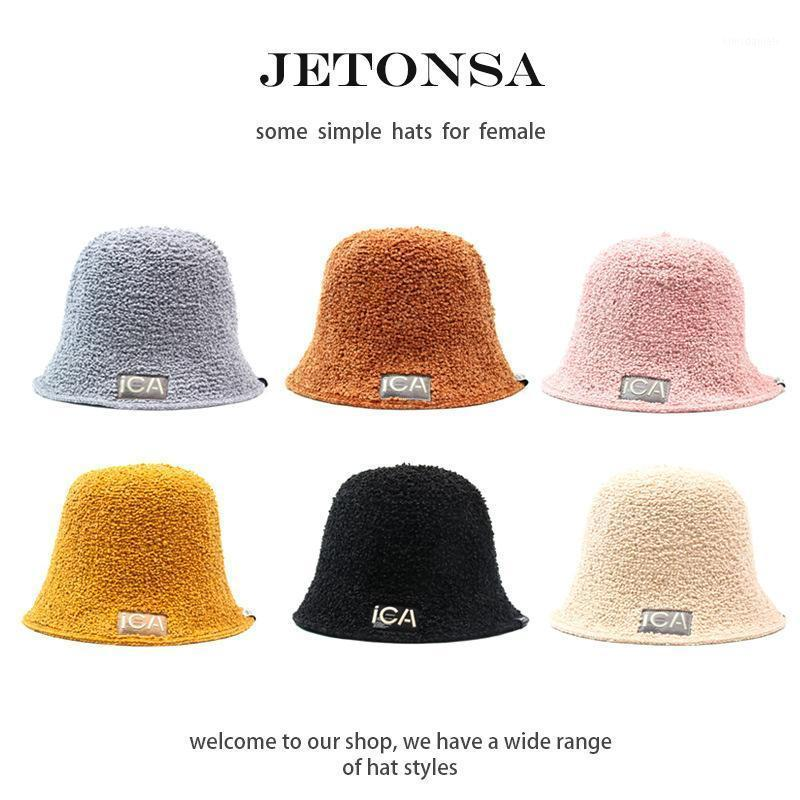Sombrero femenino otoño e invierno All-Match Japanese Bucket Hat Tide Marca Face Small 2020 New Black Basin Fishman1