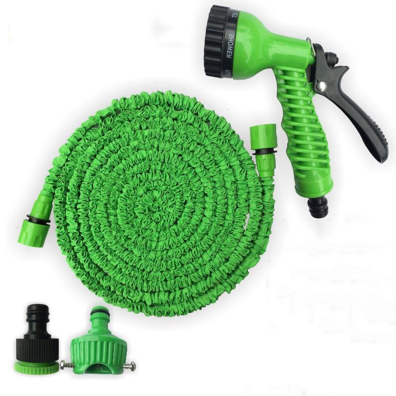 50/100/150FT Garden Hose Expandable Magic Flexible Water Hose EU Hose Plastic Watering Car Wash Spray Hoses Pipe Spray Gun EWF3037