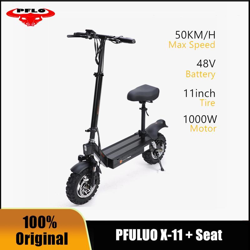 Pfilluo X11 Scooter électrique adulte avec 48V / 1000W Scooter Scooter 11 pouces 50 km / h Max Vitesse E Scooters avec siège
