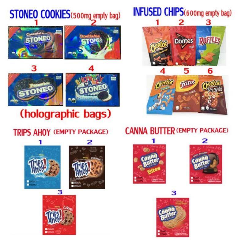 Embalaje de dulces de los Embalaje de piedras de piedras gommies chips infundidos Cheetos Canna Butter Viajes AHOYO Empaquetado de dulces Medicados