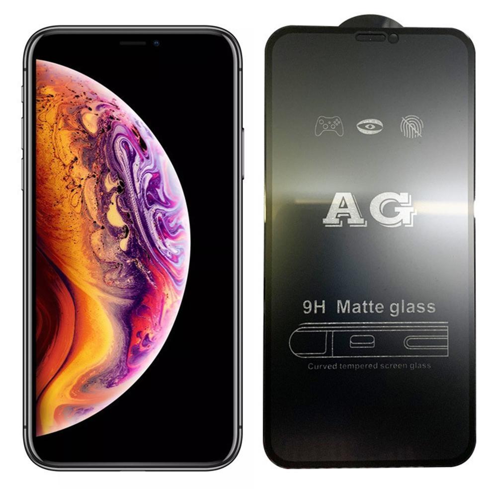 AG Matte 9H Закаленное стекло для iPhone 11 Pro Max XS MAX XR XR X 8 7 6 6S PLUS PLUS SE 2020 Полный обложковый экран Protector Anti-Fingerprint