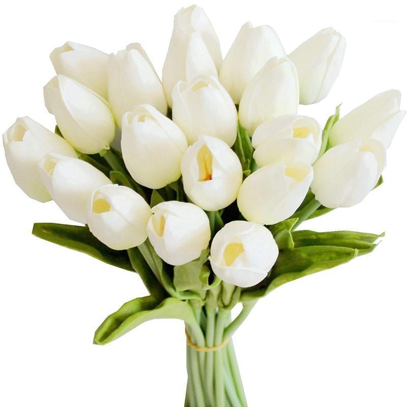 Neu-20 stücke weiß 13.8inch künstliche tulpen blumen für party dekoration, hochzeit dekoration1
