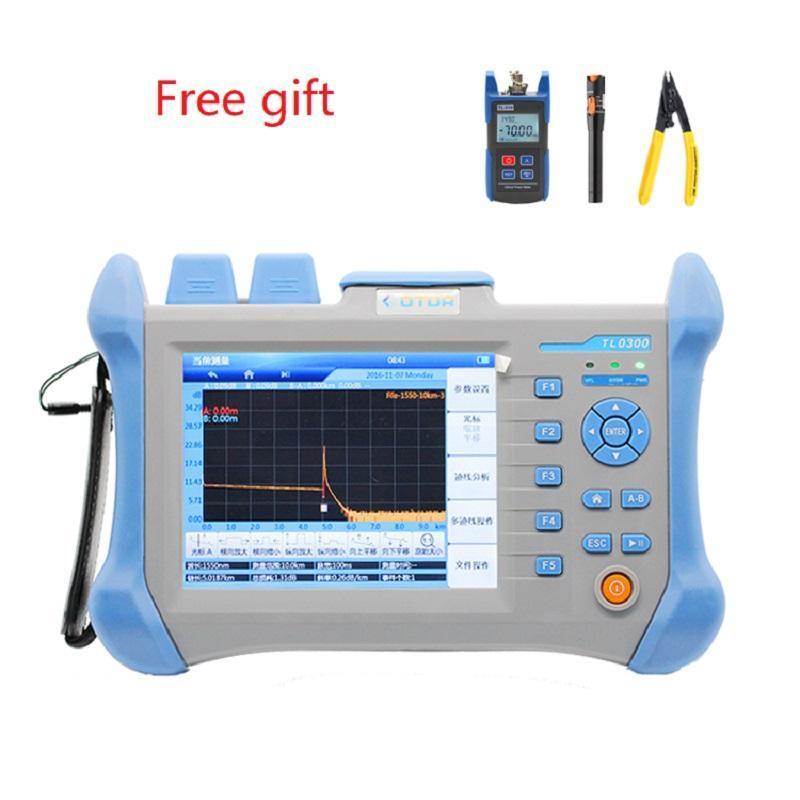 광섬유 장비 OTDR TLO-300 60-120KM FC / SC 1310 / 1550nm 통합 VFL 5.6 인챈트 스크린 광 시간 도메인 반사계 영어