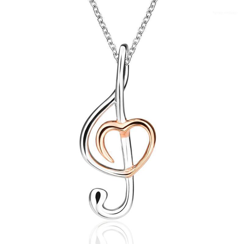 Xiaojing Recommander la musique romantique Note Pendentif Collier Collier Bijoux de mode Accessoires pour femmes Cadeaux Livraison Gratuite1