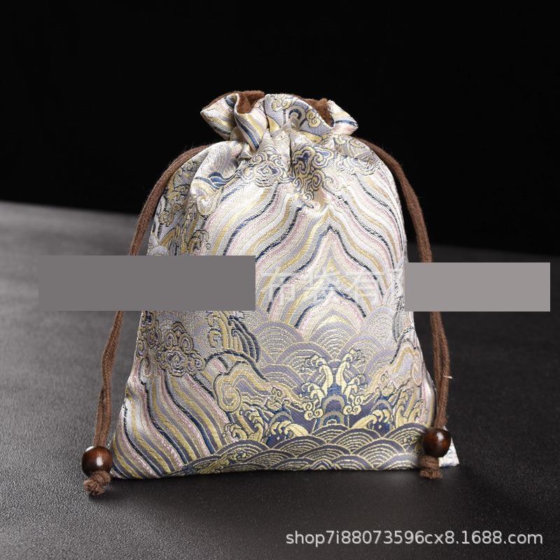 2nfbw alto grau de papelaria chinês string cordão bolso jóias bênção de chá xícara de chá saco de pano sacola de armazenamento saco de armazenamento