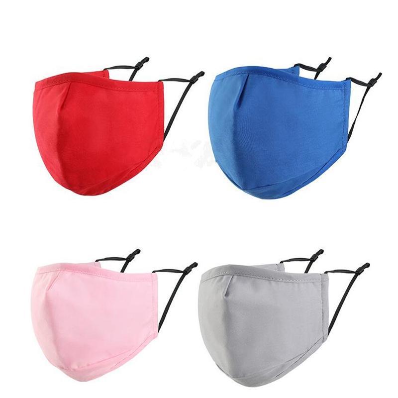 9 styles de couleur solide Coton Masques visage respirant anti-poussière masques suncreen adulte lavable Masque réutilisable YYA557