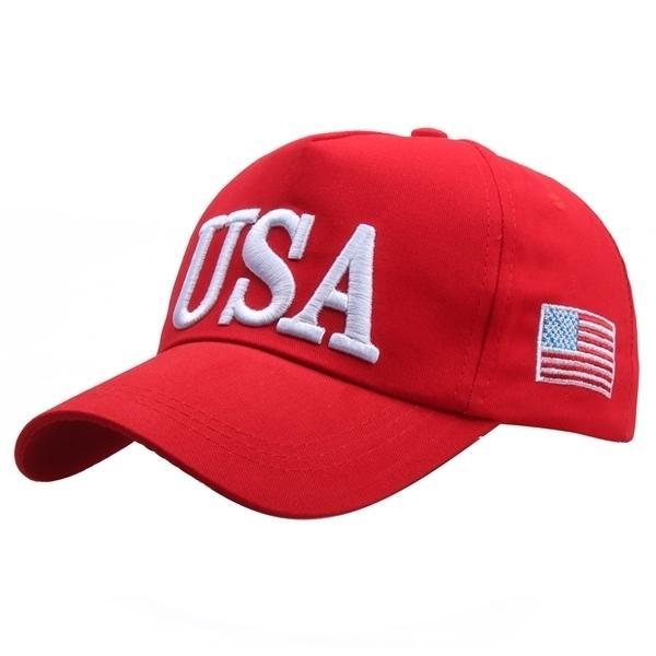 Presidente Donald Trump Hat 2020 Mantente a Hacer que América sea genial de nuevo Marga Maga papá Red Béisbol gorra Hombres Mujeres Gorros Snapback Hat Y1220
