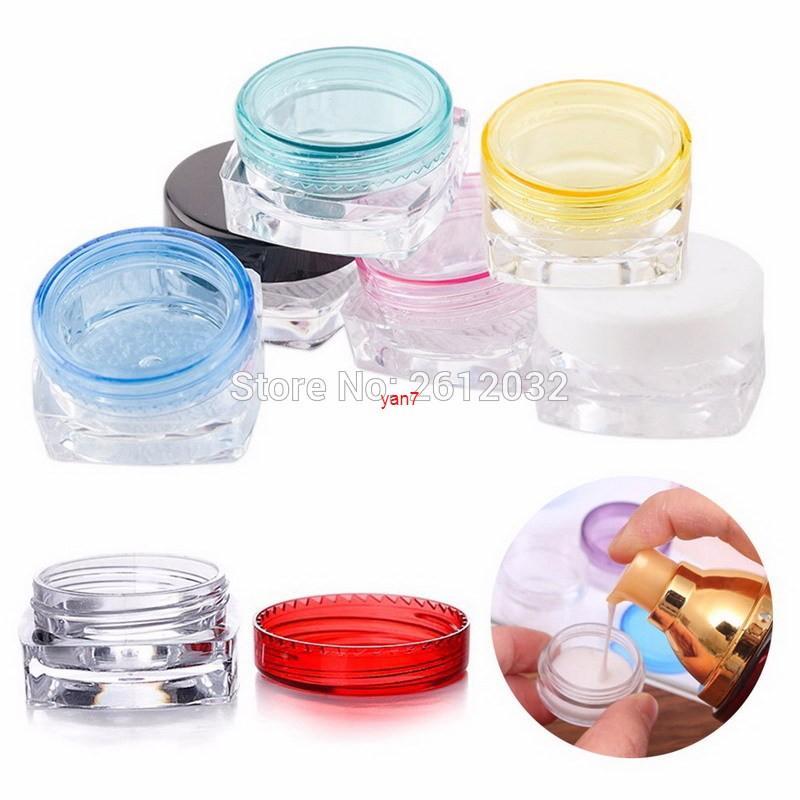 3g 5g pequeno vazio cosmético garrafas recarregáveis plástico maquiagem facial creme frasco frasco recipiente de potenciômetro bottitygood lojas
