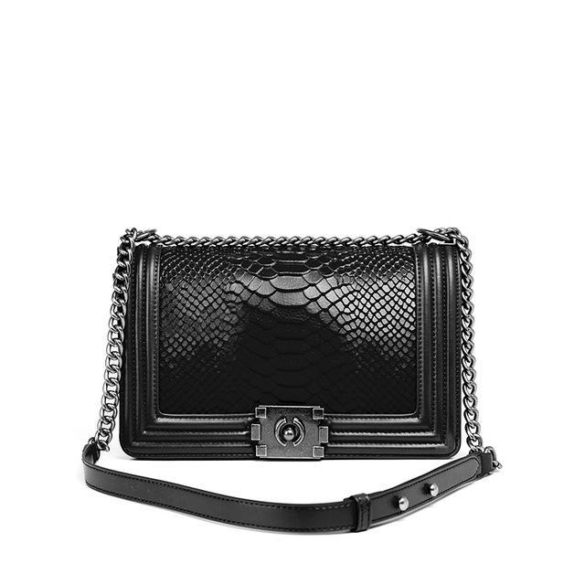 Qualidade Moda Bolsa Lingge Cadeia Europeia Marca de Ombro Messenger Bag Messenger Bag Bolsa de vaca Top Flap Mulheres Serpente Genuine Não Tcxji