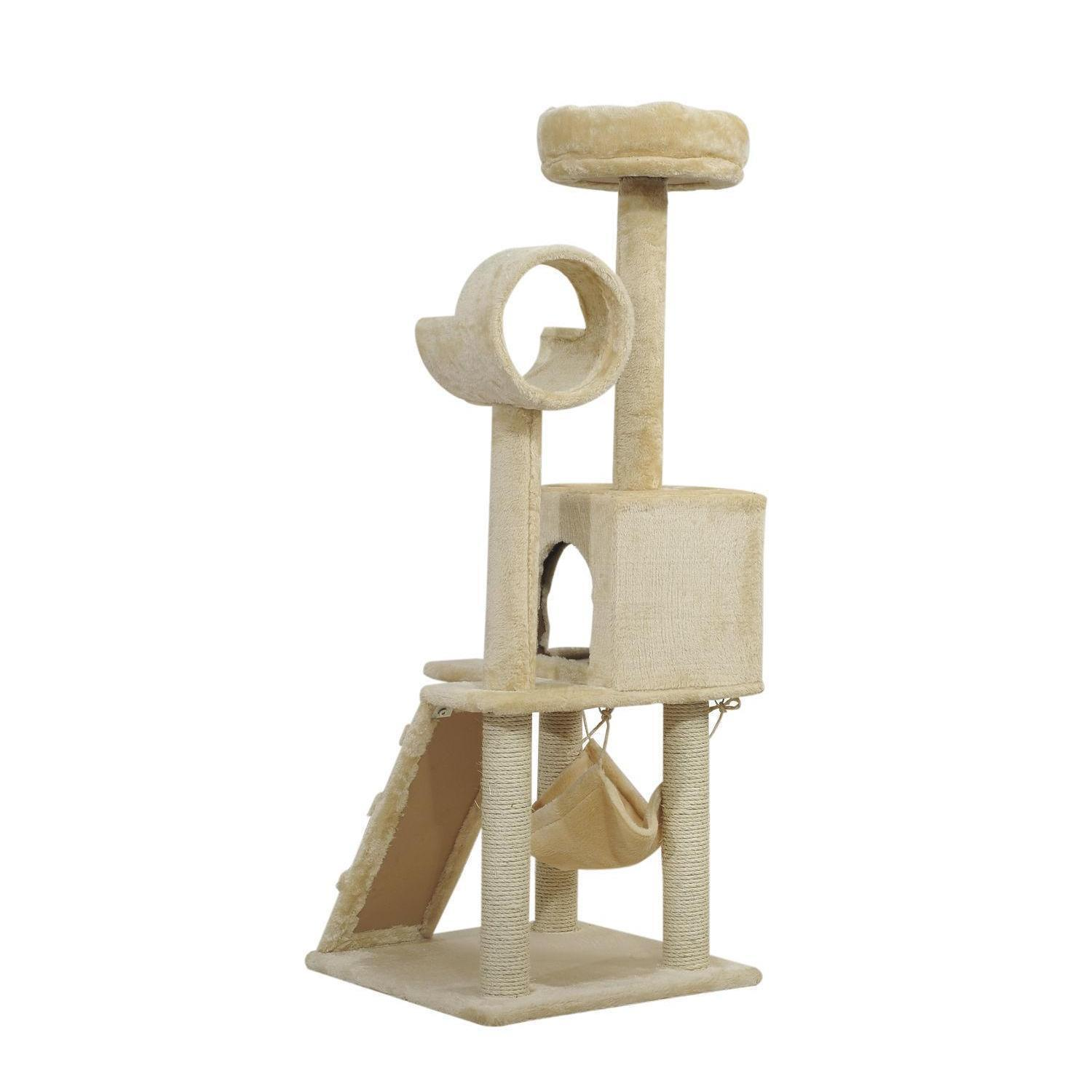 """52 """"Cat Tree Scratching Tower Post Condo PET KITTY H QYLWJJ DH_SELLER2010"""