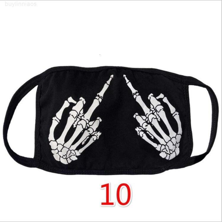 İpek Cadılar Bayramı Komik Yüz Maskeleri Moda Kafatası Baskı Maskeleri Buz Bezi Yıkanabilir Ağız Kapak Toz Geçirmez Koruyucu Yüz Maskesi LSK1627