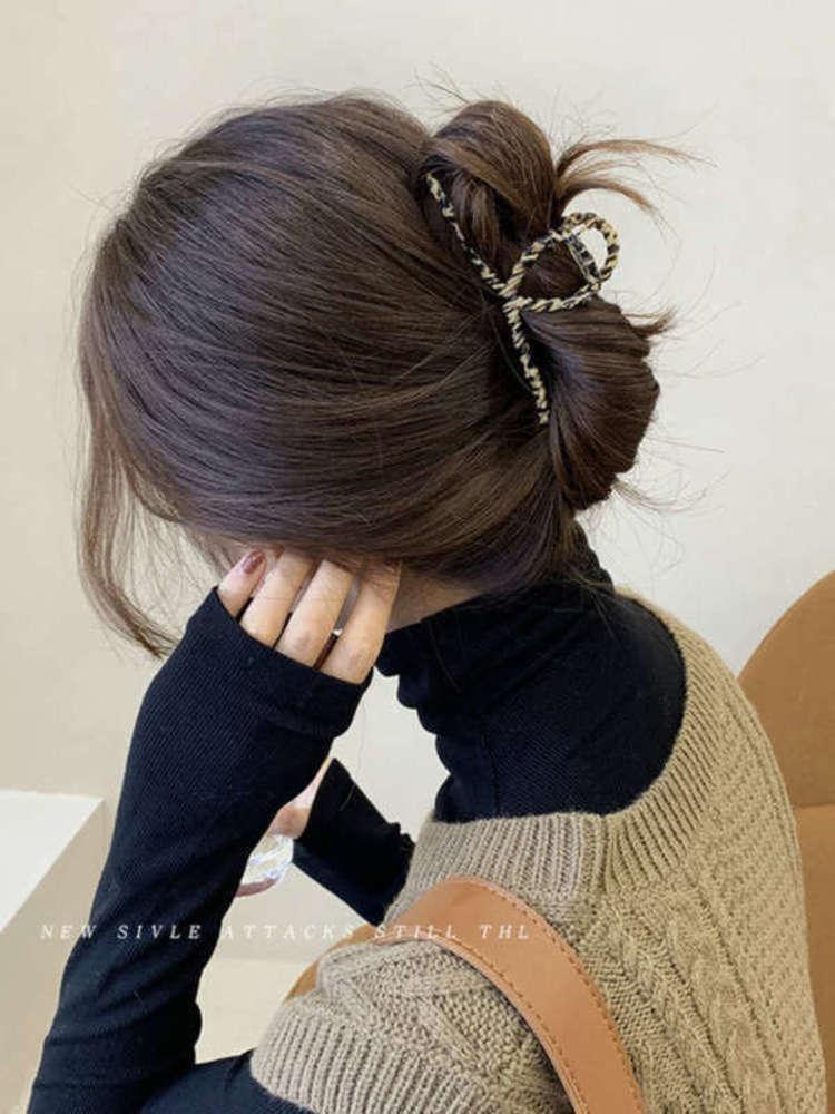 Métal arrière de la tête Shark Claw top simple cuillère tempérament coiffe coiffe de coiffure