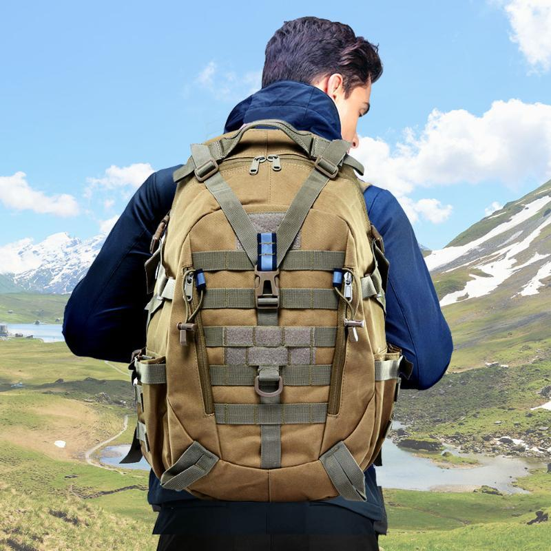 Сумки на открытом воздухе 40L кемпинг рюкзак мешок мужчины путешествия тактическая армия молла скалолазание рюкзак пеший прогулка ассоциальский поход xa714 + ва