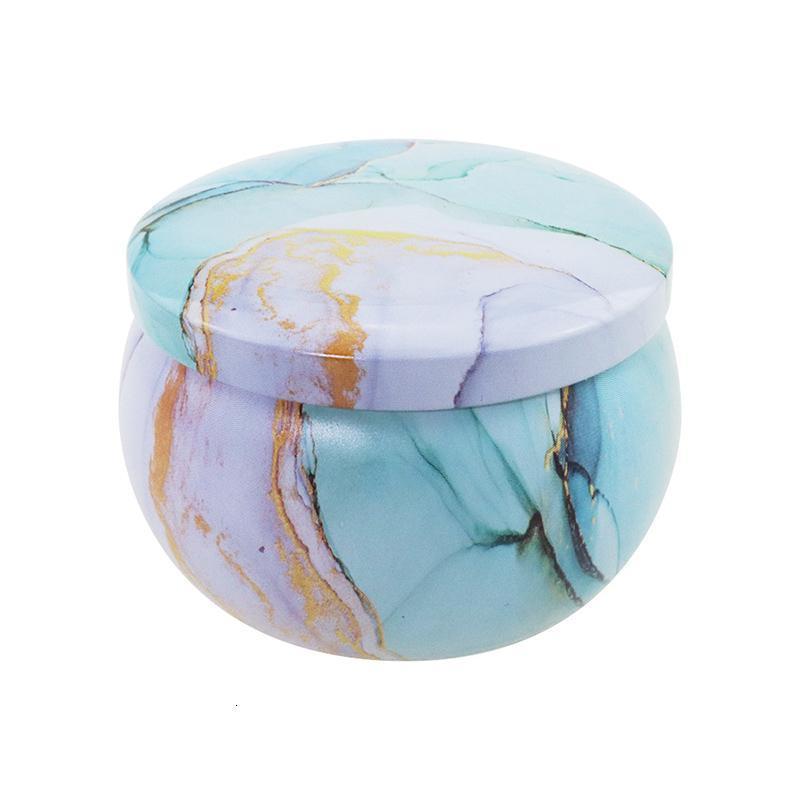 TinPlate DIY Tarro perfumado hecho a mano Ronda vacía Cande Vela Alimento de té Candy Tablet Accesorios Caja de almacenamiento 7.7 * 5 cm XH2RPQ