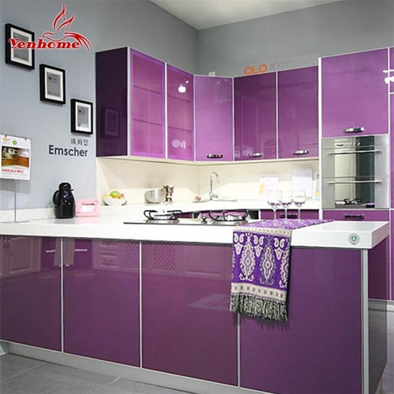DIY Contacto Papel PVC impermeable Auto adhesivo Wallpaper Wallpaper Gabinete Mueble Renovación Vinilo Pegatinas de pared Decoración 201202