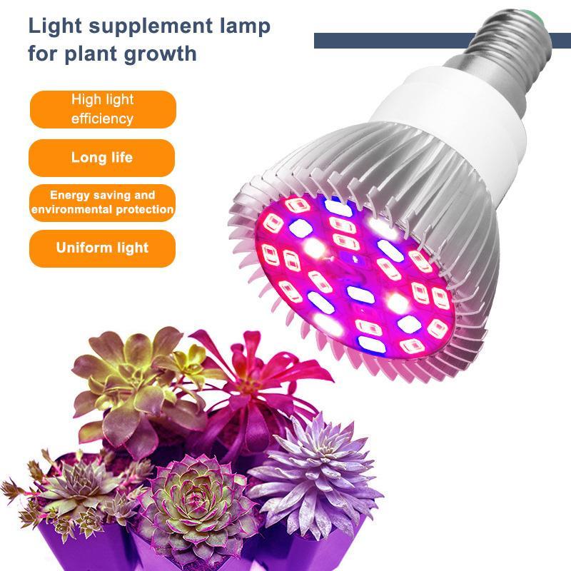 Best Seller Phyto Lambaları Tam Spektrum E27 LED Bitki Işık Büyümek Lambası E14 Bitkiler için LED 18 W 28 W Fitolampi Sera Çadır Ampuller Toptan