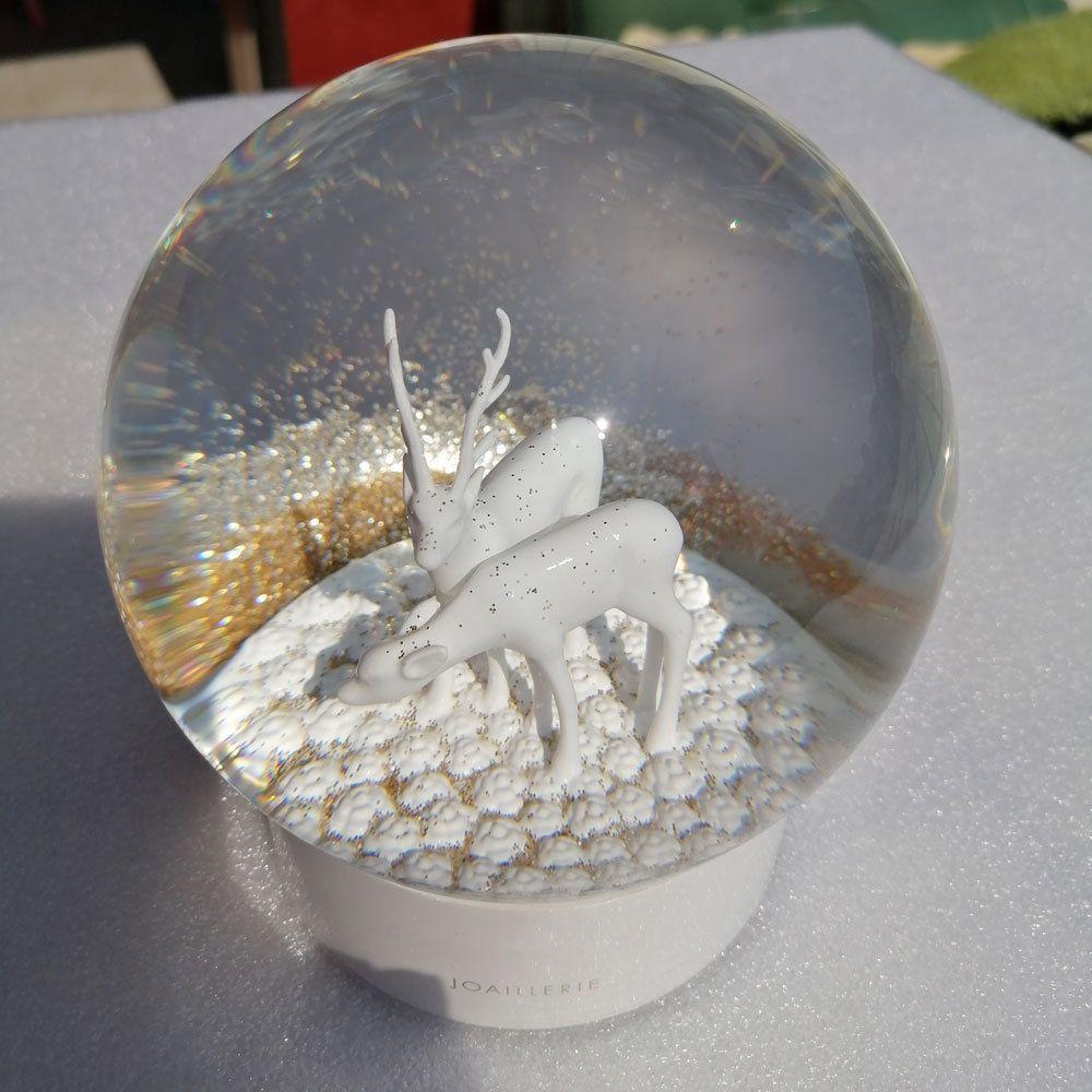 2020 CC Snow Globe The Ultime SIKA Cervi Classics Bianco Crystal Ball con box Regalo limitato per il cliente VIP