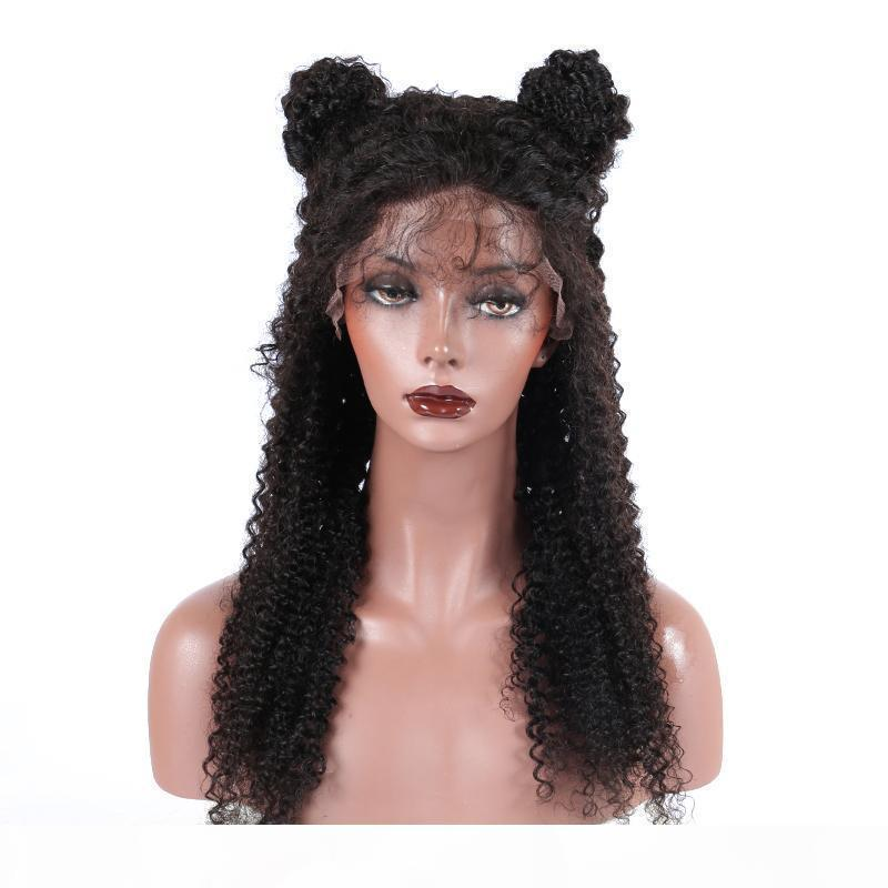 13x6 Deep Part Lace Front Human Hair Wigs Kinky Curly Brazilian Remy Hair 130 Density Lacefront Wig Pre Plucked With Baby Hair