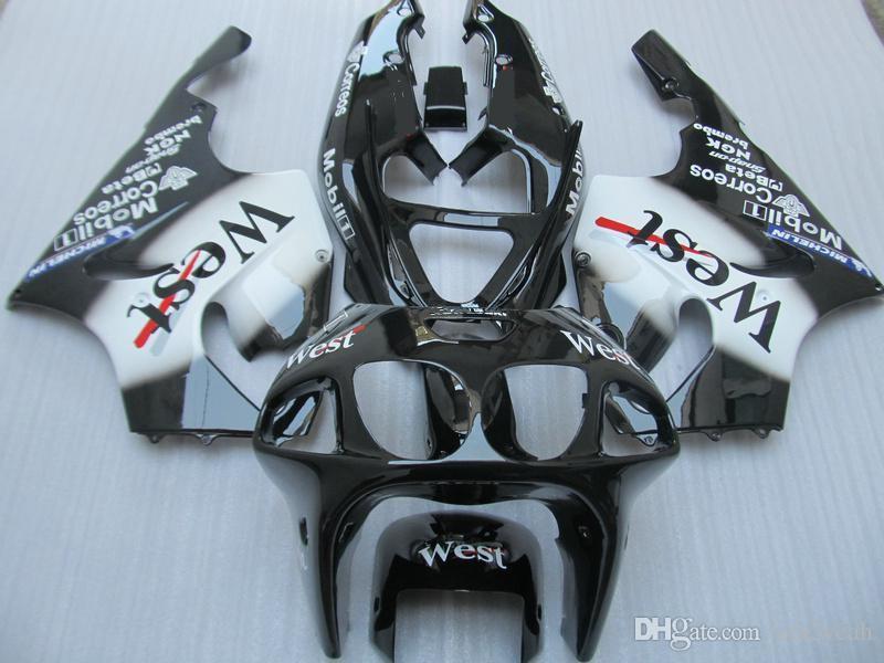Fairing body kit for KAWASAKI Ninja ZX-7R ZX7R 1996 1999 2000 2003 ZX 7R 96 99 00 03 White black Fairings bodywork+gifts ZD10