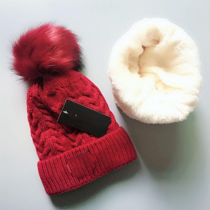 Новая улица Шапочка утолщенная теплая осень и зима высокое качество мужской и женский 6 цветной меховой шар