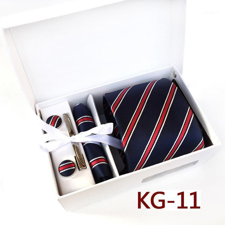 Personalized Groomsmen Gift Box with Tie Unique Gift Set for Groomsmen and Ushers Navy Blue Wine Red Stripe Tie Hanky1