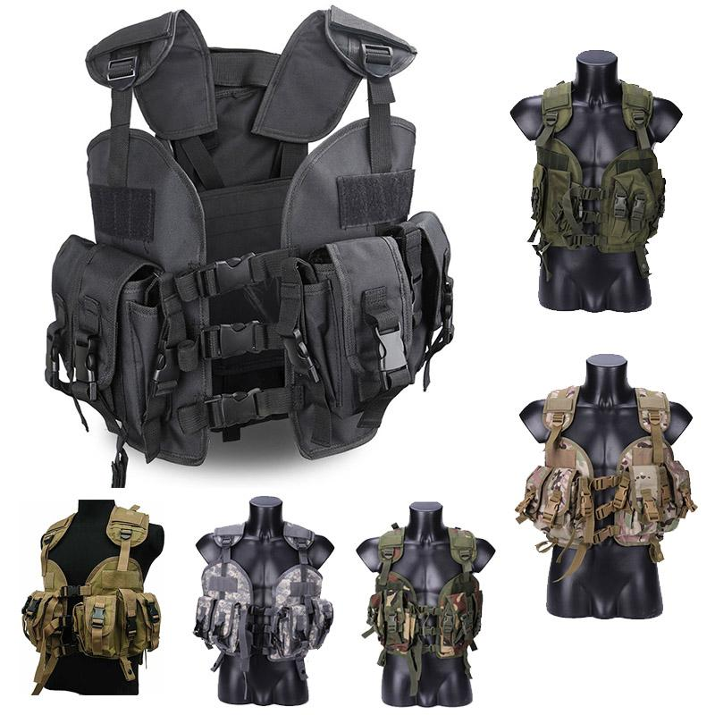 Sport all'aperto Camouflage Outdoor Body Body Body Body Combat Assalto Gilet Tactical Molle Vest Plate Plate Vest NO06-008