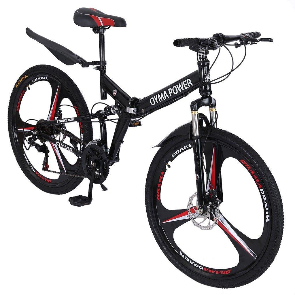 26in Folding MTB-Bikes Mountainbike Shimanos 21 Speed Rennrad Fahrrad Full Suspension Bicicleta de Montaa US-Lager
