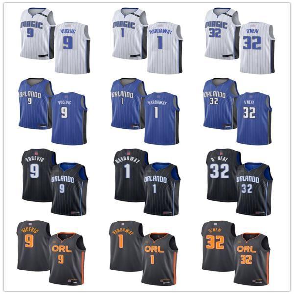 Juventude das mulheres mens.OrlandoMagia9 Nikola Vucevic 1 centavoHARDAWAY 32 ShaquilleO'Neal personalizado jerseys de basquete