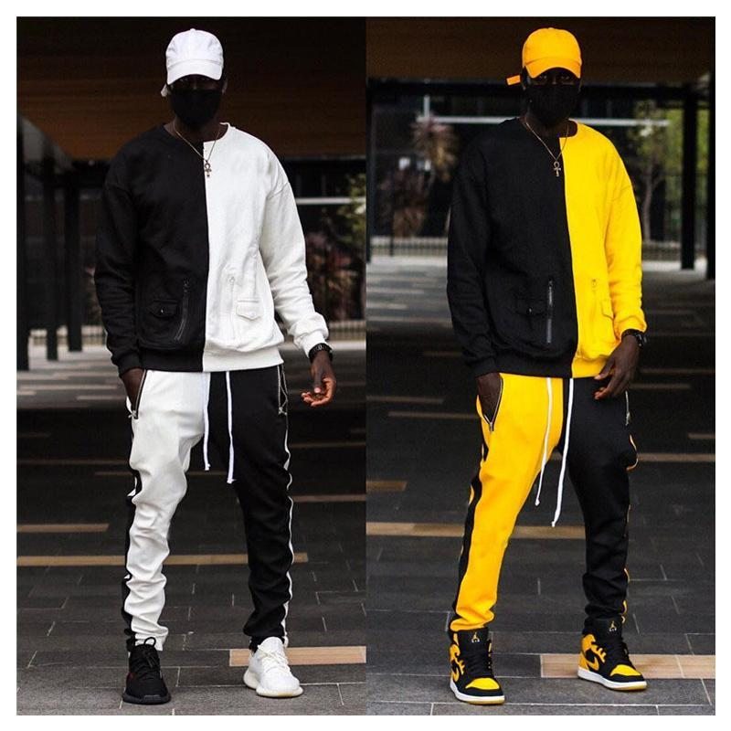 ADED Running Sports Tracksuits Men Sportswear Suit Sweatshirt Sweatpants Male Gyms Fitness Training Pants Sets Jogging Clothing