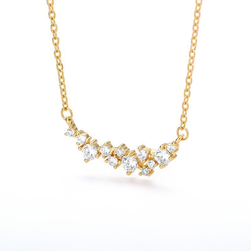 Ketten Mode Kristall Zirkon Charm Halskette Gold Farbe Anhänger Edelstahl Kette Für Frauen Hochzeit Schmuck Spezielles Geschenk Femme BFF