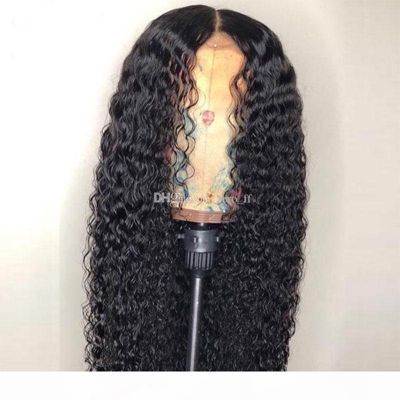 Grad 9A Wasserwelle Vollspitze Perücken Lace Front Perücken Baby Haar 100% Brasilianisch Unverarbeitete jungfrau Menschenhaar Perücke Für schwarze Frauen