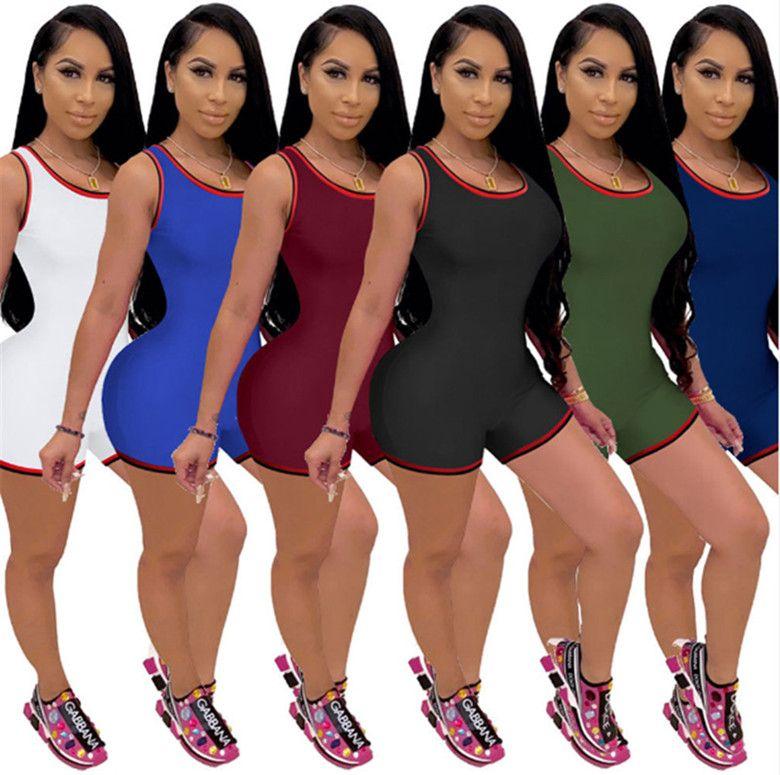 Оптом женские комбинезоны комбинезон комбинезон цельные шорты элегантные моды тощий комбинезон пуловер комфортно клубная одежда Hot KLW5884