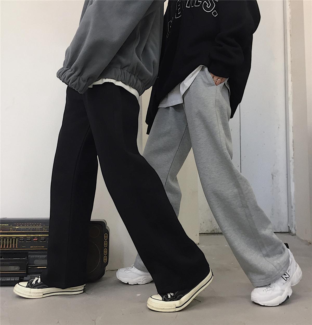 Spring Summer Mode Femme Solide Taille haute Loable Pantalon de jambe lâche Femmes Pantalons Casual Pantalon Casual Plus Taille S-5XL 201106