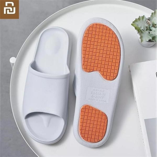 Men Home bathroom non-slip slippers indoor Floor Flat Shoes Summer massage flip flop health soft and wear-resistant Z1123