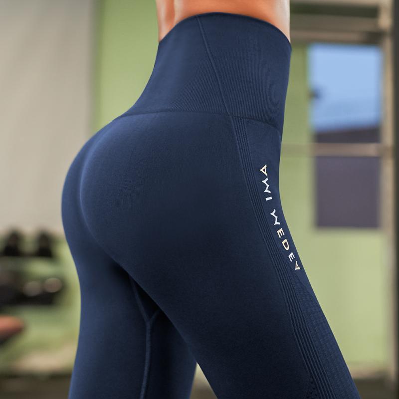 레깅스 여성 바지 푸시 업 체육관 스타킹 섹시한 배 제어 스포츠 요가 바지 높은 허리 레깅스 피트니스 러닝 카프리 바지 2020