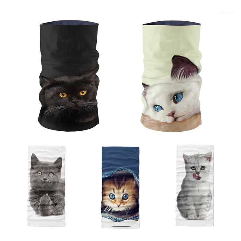 Novidade Bandana Ciclismo Impresso Buffer1 Headscarf Funny Design Face Cat Mulheres 3D Tubular Esportes Máscara Animal Handshress KMTTE