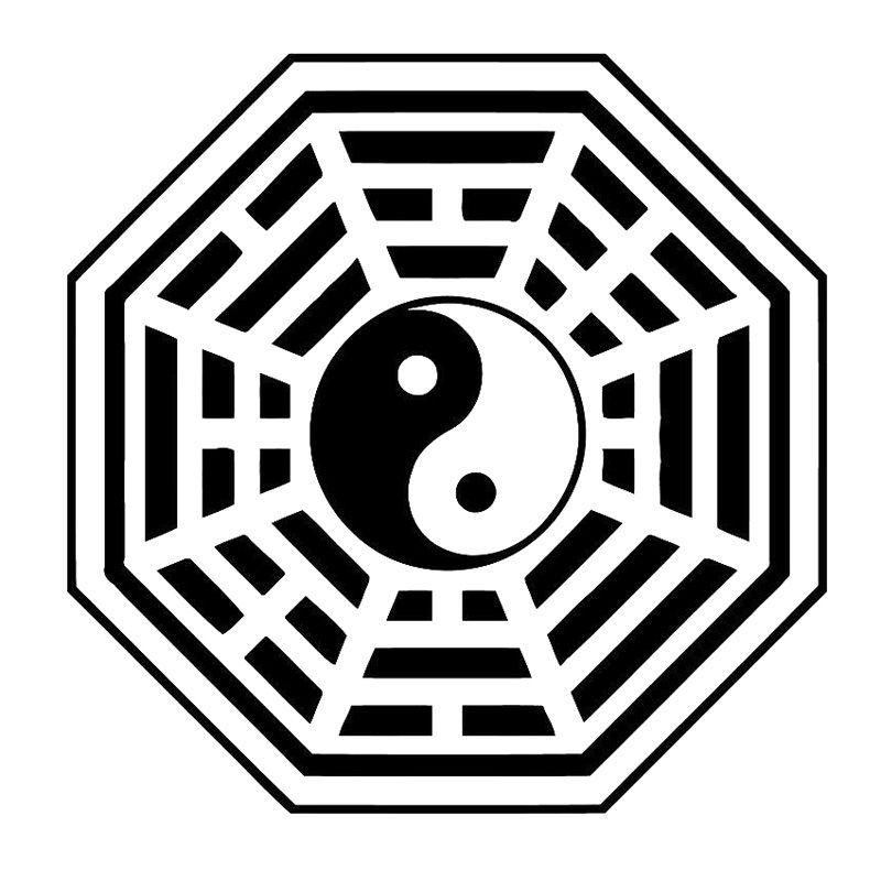 16.3cm * 16.3cm Buddha Yin Yang Creative Auto Aufkleber Dekor Auto-Styling Schwarz / Silber S3-5980