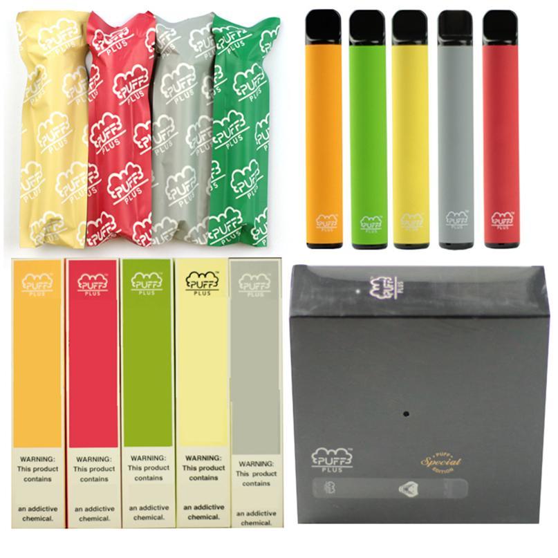 Cigarrillos Puff Bar Plus Dispositivo Vapes Desechable 35 Colores POD KIT 800, 3.2ml Cartuchos Vapee Vacío Pluma Vape Carro Envasado E Packaging E Cigarrillo