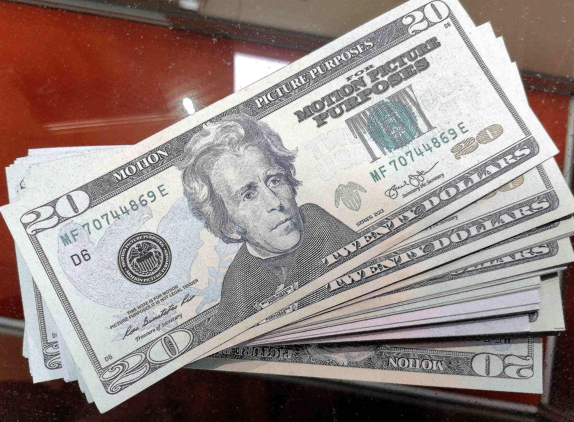 Commercio estero New 20 Dollars Bar Party Toy Banconote