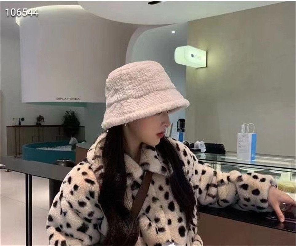 2021Fashion tendência senhoras novas pescador chapéu multicolor macio chapéu do inverno letra balde e entrega rápida chapéu feminino quente