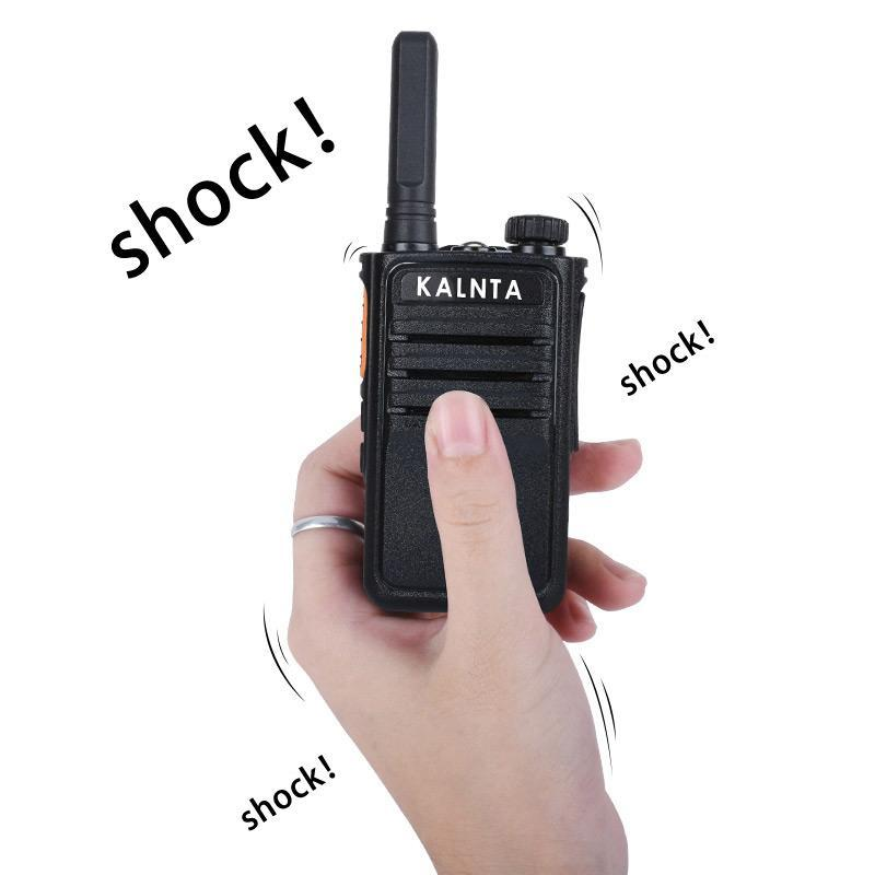 2 pezzi vibrazione walkie talkie portatile radio portatile mini walkie-talkie colonna micro altoparlante intercom walk talk set turismo