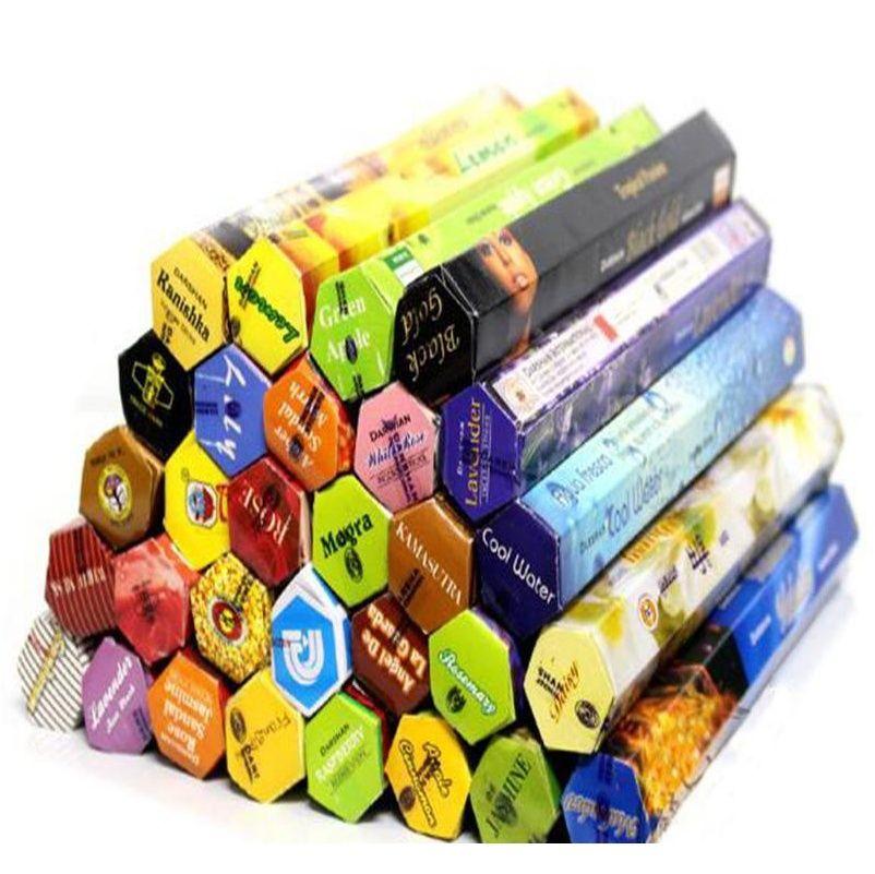 1 Box Fashiom Handmade Darshan Darshan Stick Incenso / Incenso Bastoncini multipli Fragranza Home Decor f Jlllqv Lucky2005