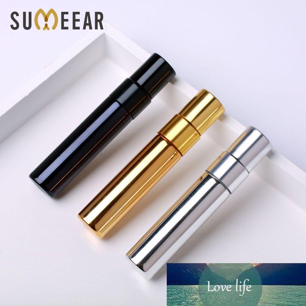 100 unidades / lote 5ML mini-garrafa de perfume de Ouro prata garrafa preta com embalagem caixa Atomizador Frascos do pulverizador Amostra