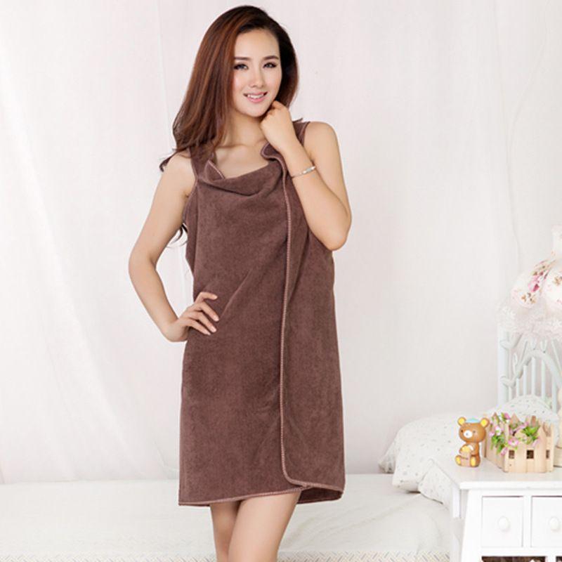150 * 80cm Sling Banheira Robe Multi Cor Superfina Fibra Toalhas Wearable Sleepwear Acessórios Para Banheiro Mulheres Acessórios Home Novo 9YQ G2
