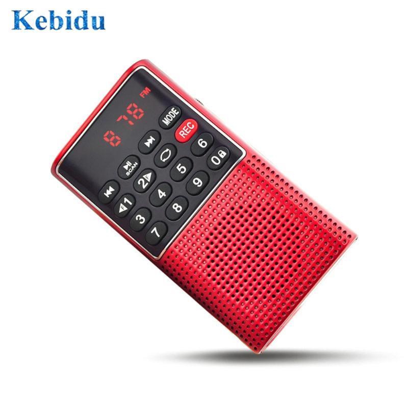 Radio Mini Portable Handheld Digital FM USB TF Lecteur MP3 Player Rechargeable en plein air avec enregistreur vocal